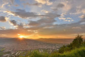 Dramatic sunset over Puli — Stock Photo