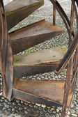 Old rusty staircase — Stock Photo