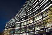 Modern building at night — Stock fotografie
