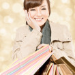 Smiling shopping girl — Stock Photo #35480303