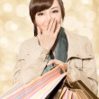 Smiling shopping girl — Stock Photo #35480359
