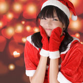 Happy adorable Christmas girl — Stock Photo