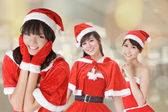 Attractive Christmas girls — Foto Stock