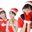 Attractive Christmas girls — Stock Photo