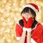 Happy adorable Christmas girl — Stock Photo