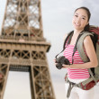 Smiling traveling Asian girl — Stock Photo #39165387