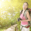Smiling traveling Asian girl — Stock Photo #39165893