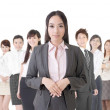 Business woman and her team — Stock Photo #39218079