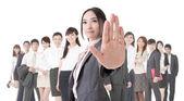 Stop gesture — Стоковое фото