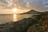 Sunset at Coral coast line — Stock Photo