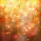 Heart shaped bokeh background — Stock Photo