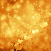 Heart shaped bokeh background — Stock Photo