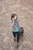 Traveling Asian lady — Stock Photo
