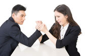 Business arm wrestling — Stock Photo