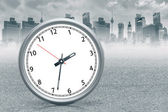 Clock at ciy — Stock Photo