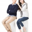 Portrait of young attractive Asian couple — Stock Photo #44001193