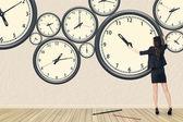 Repair the clock — Stock Photo