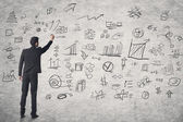 Concept of business plan — Stock Photo