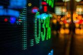 Affichage de prix de marché boursier — Photo