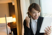 Cheerful Asian business woman — ストック写真