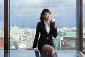 Asian business woman take a break  — Stock Photo