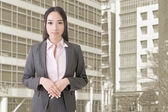 Attractive Asian business woman — Stock Photo