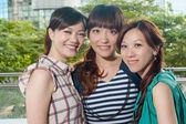 Spokojený úsměv asijské ženy — Stock fotografie