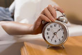Turn off alarm clock — Stock Photo