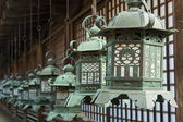 Japanese style bronze lantern — Stock Photo