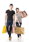 Asian couple shopping — Stock Photo