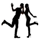 Asian couple dancing — Foto de Stock