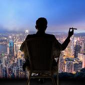 Businessman sit on chair — Foto de Stock