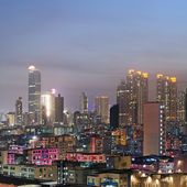 City night scene of Hong Kong — Stock Photo