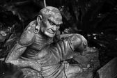 Arhat Kanakbharadvaja statue — Stock Photo