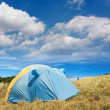 Постер, плакат: Special tent set on the grassland of high mountain