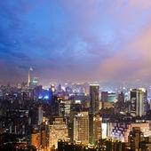 Noche colorida ciudad — Foto de Stock