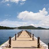 Dock with nobody — Stock Photo