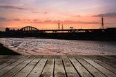 Cityscape coucher de soleil — Photo