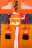 Closeup Japanese temple bell. — Stock Photo
