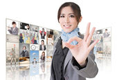 Give you a okay sign — Stock Photo