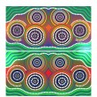 Australia Aboriginal art vector background - Stock Vector