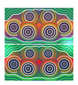 Australia Aboriginal art vector background — Stock Vector