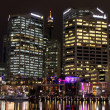 Sydney Darling Harbour by night — Stock Photo