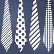 Fathers day grunge blue background with ties — Stock Photo