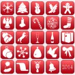 Collection of vector Christmas icons — Vettoriali Stock