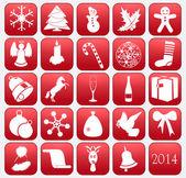 Koleksiyon vektör christmas icons — Stok Vektör