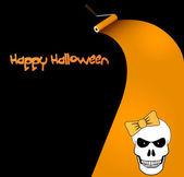 Halloween vector card or background. — Stock Vector