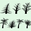 Collection of vector tree silhouettes — Stock Vector