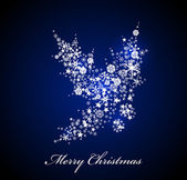 Vector Christmas card: Blue Holly — Cтоковый вектор