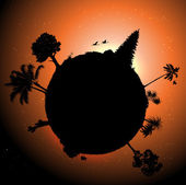 Vector planet — Stock Vector